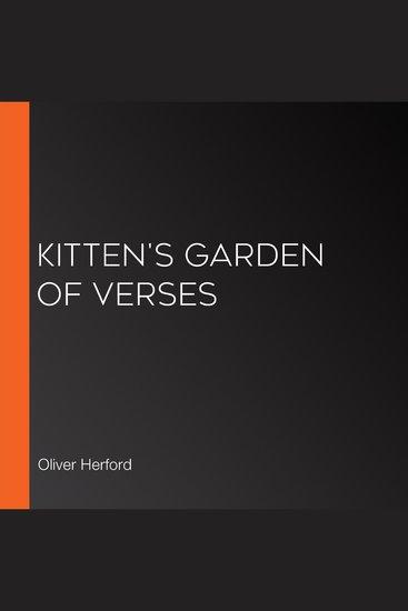 Kitten's Garden of Verses - cover