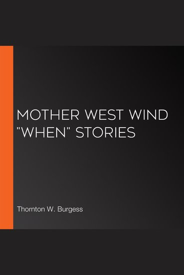 """Mother West Wind """"When"""" Stories - cover"""