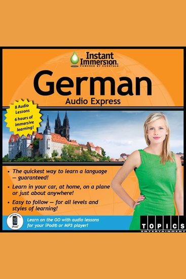 Instant Immersion German Audio Express - German - cover