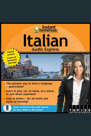 Instant Immersion Italian Audio Express - Italian - cover