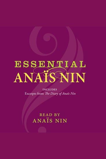 Essential Anais Nin - cover