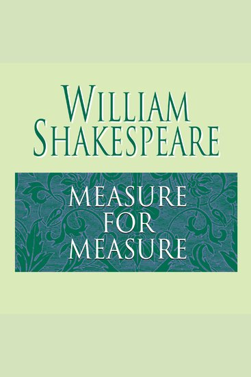Measure for Measure - cover