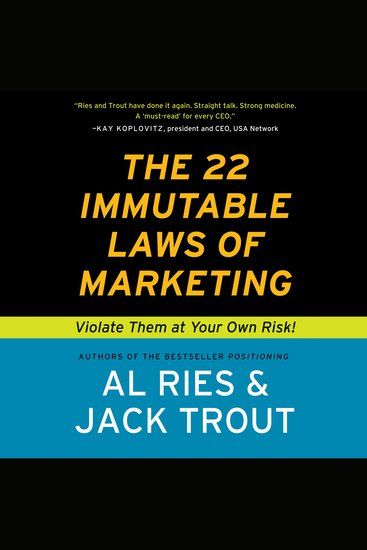 The 22 Immutable Laws of Marketing - cover