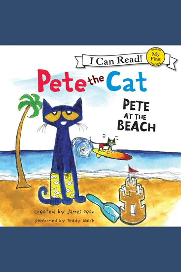Pete the Cat: Pete at the Beach - cover