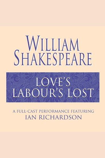 Love's Labour's Lost - cover