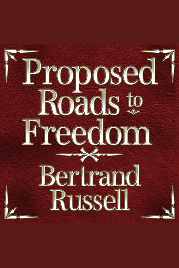 Proposed Roads to Freedom - cover