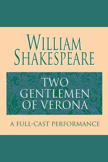 The Two Gentlemen of Verona - cover