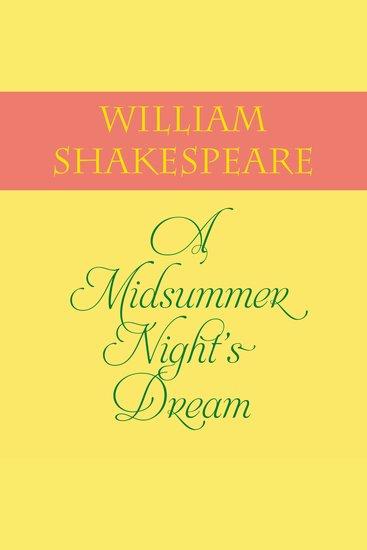 A Midsummer Night's Dream - cover