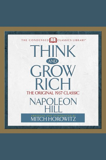 Think and Grow Rich - The Original 1937 Classic - cover