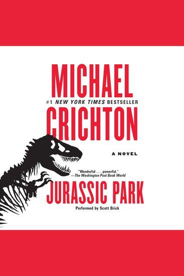 Jurassic Park - A Novel - cover