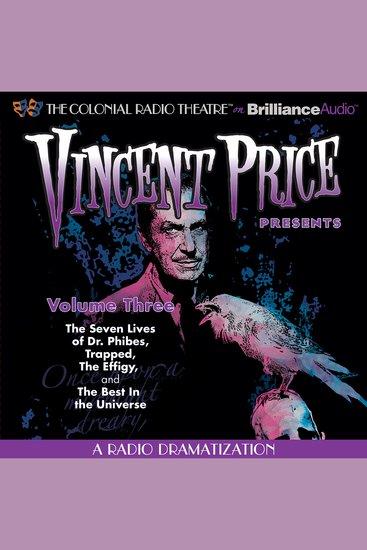 Vincent Price Presents - Volume Three - Four Radio Dramatizations - cover