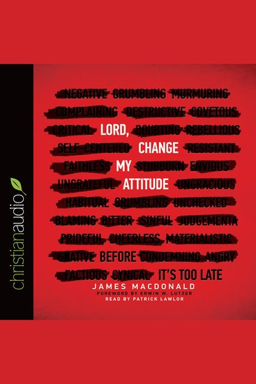 Lord Change My Attitude - Before It's too Late - cover