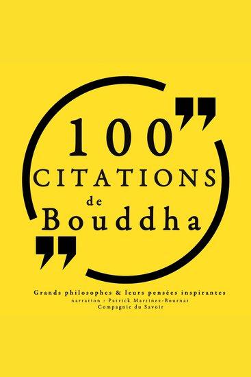 100 citations de Bouddha - Comprendre la philosophie - cover
