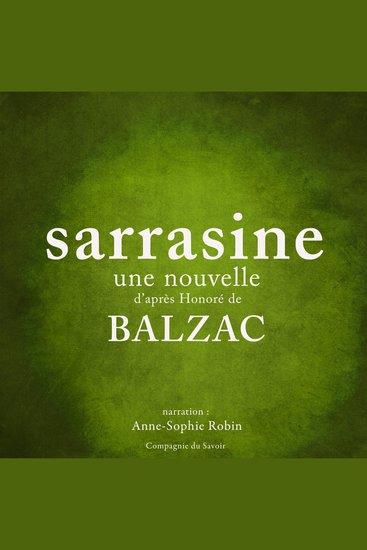 Sarrasine une nouvelle de Balzac - cover