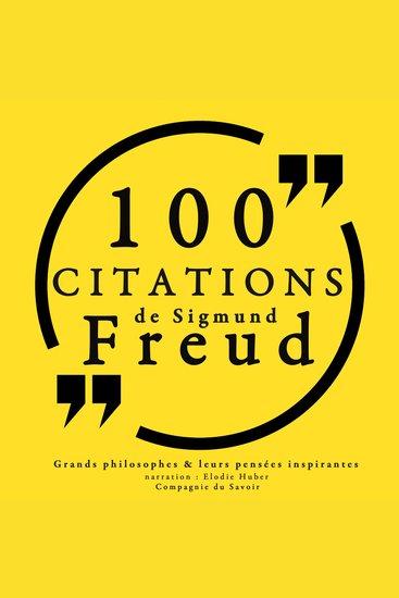 100 citations de Sigmund Freud - Comprendre la philosophie - cover
