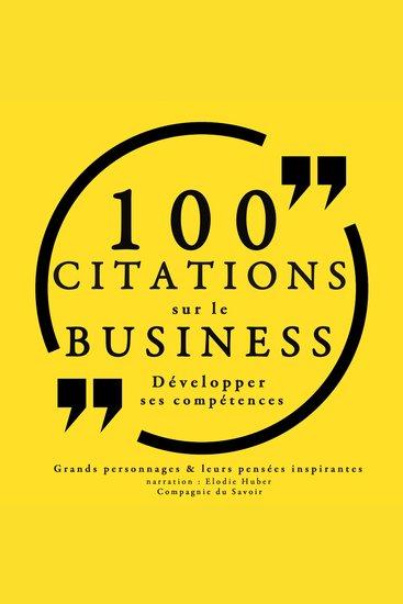 100 citations sur le business - Collection 100 citations - cover