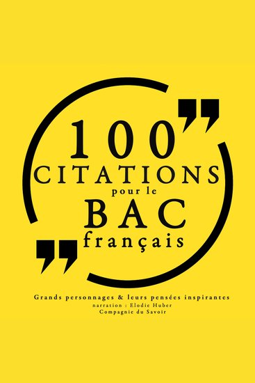 100 citations pour le bac français - Collection 100 citations - cover
