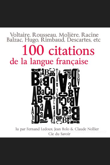 Cent citations de la langue française - Collection 100 citations - cover