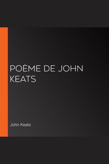 Poème de John Keats - cover