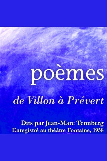 Poésies lues par Jean-Marc Tennberg - cover