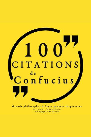 100 citations de Confucius - Comprendre la philosophie - cover