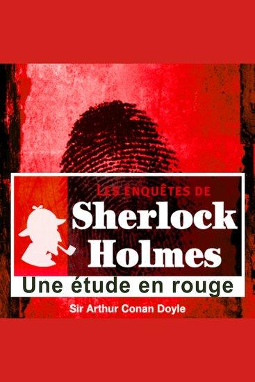 Une étude en rouge - Les aventures de Sherlock Holmes - cover