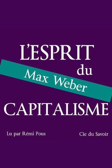 Weber l'esprit du capitalisme - cover