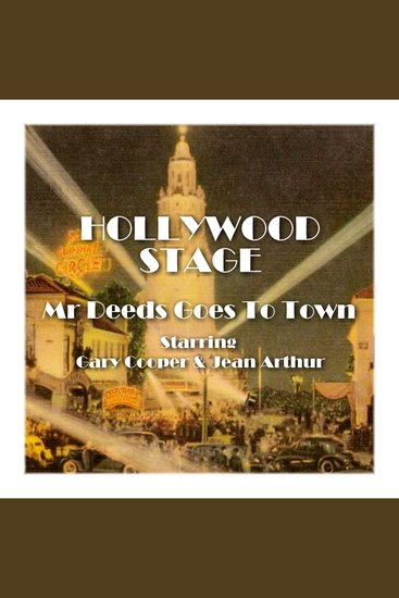 Mr Deeds Goes to Town - Hollywood Stage - cover