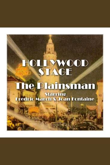 The Plainsman - Hollywood Stage - cover
