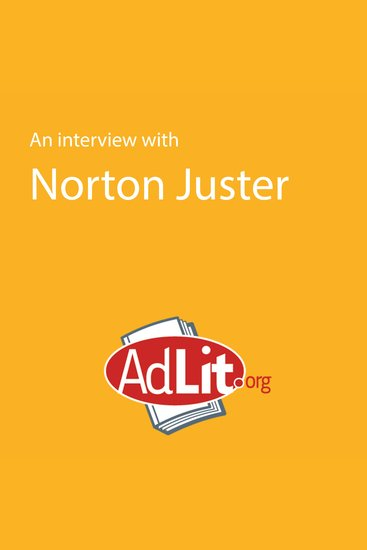 An Interview with Norton Juster for AdLitorg - cover