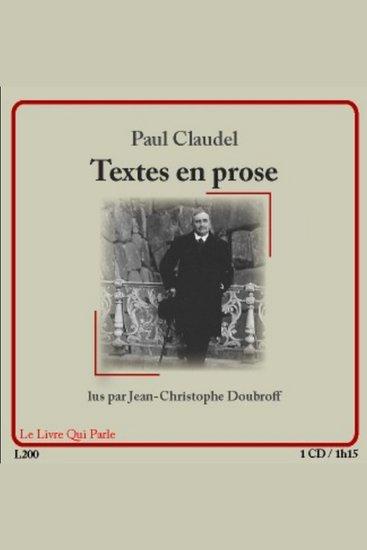 Textes en prose - cover