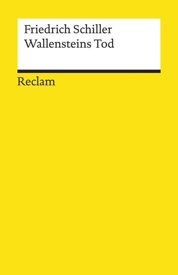Wallensteins Tod - Ein dramatisches Gedicht (Reclams Universal-Bibliothek) - cover