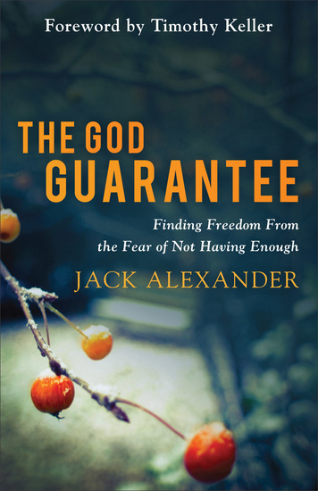 The God Guarantee - Finding Freedom from the Fear of Not Having Enough - cover