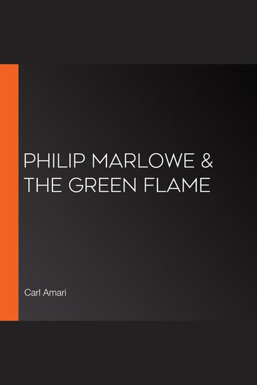 Philip Marlowe & the Green Flame - cover