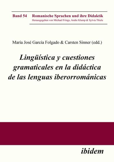 Lingüística y cuestiones gramaticales en la didáctica de las lenguas iberorrománicas - cover