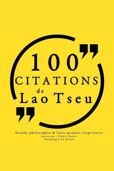 100 citations de Lao Tseu - Comprendre la philosophie - cover