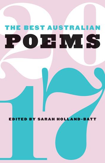The Best Australian Poems 2017 - cover