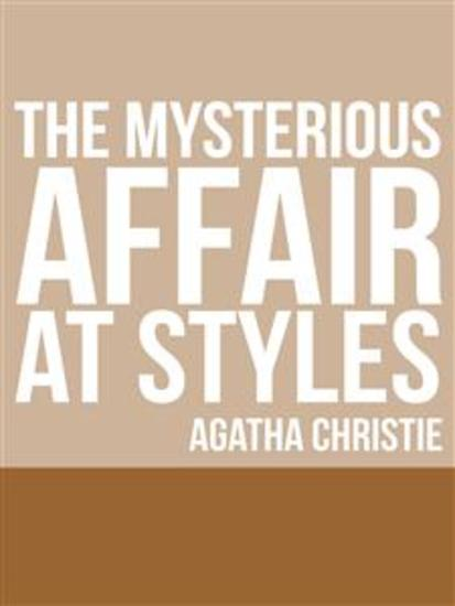 The Mysterious Affair at Styles - cover