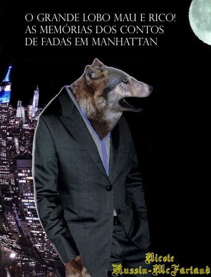 Portuguese-English Bilingual Edition: O Grande Lobo Mau é Rico! (The Big Bad Wolf Strikes It Rich!) - cover