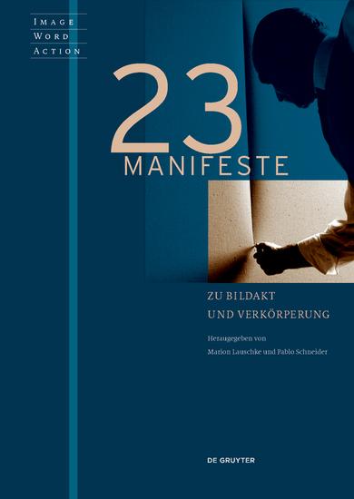 23 Manifeste zu Bildakt und Verkörperung - cover