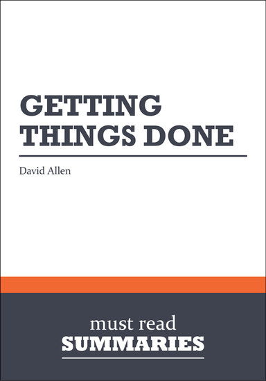 Summary: Getting things done David Allen - cover