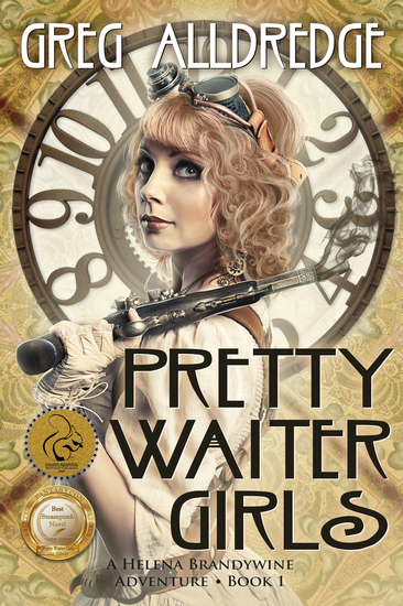 Pretty Waiter Girls - A Helena Brandywine Adventure - cover