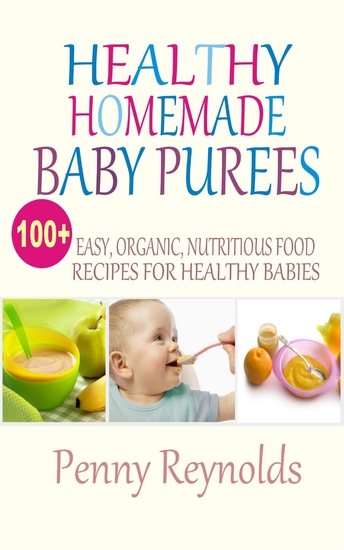 Healthy Homemade Baby Purees - Easy Organic Nutritious Food Recipes For Healthy Babies - cover