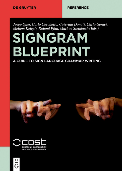 SignGram Blueprint - A Guide to Sign Language Grammar Writing - cover