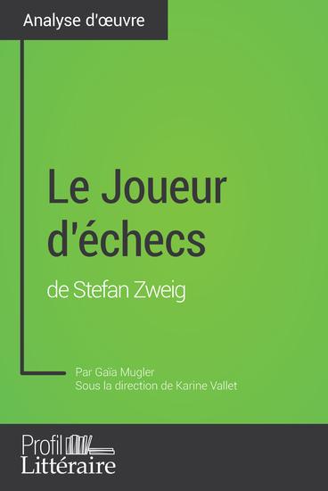 Le Joueur d'échecs de Stefan Zweig (Analyse approfondie) - cover