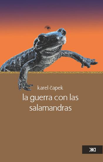 La guerra con las salamandras - cover