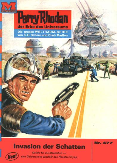 """Perry Rhodan 477: Invasion der Schatten - Perry Rhodan-Zyklus """"Die Cappins"""" - cover"""