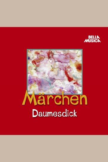 Märchen Daumesdick - cover