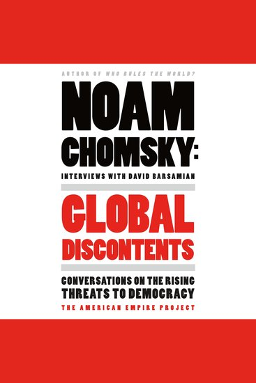 Global Discontents - Conversations on the Rising Threats to Democracy - cover