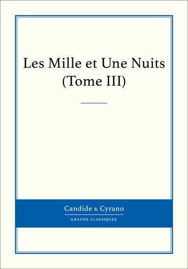 Les Mille et Une Nuits Tome III - cover